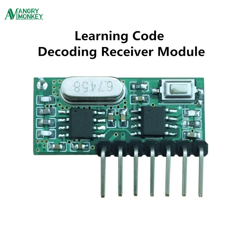 433mhz RF Receiver Learning Code Decoder Module 433 mhz Wireless 4 Channel output Diy kit For Remote Control 1527 encoding universal 433 mhz 2 channel remote control learning code 1527 relay receiver module wireless diy garage gate door switch dc 12v