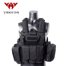 2016 Military Tactical Vest Police Paintball Wargame Wear MOLLE Body Armor Hunting Vest CS Outdoor Products Equipment Black