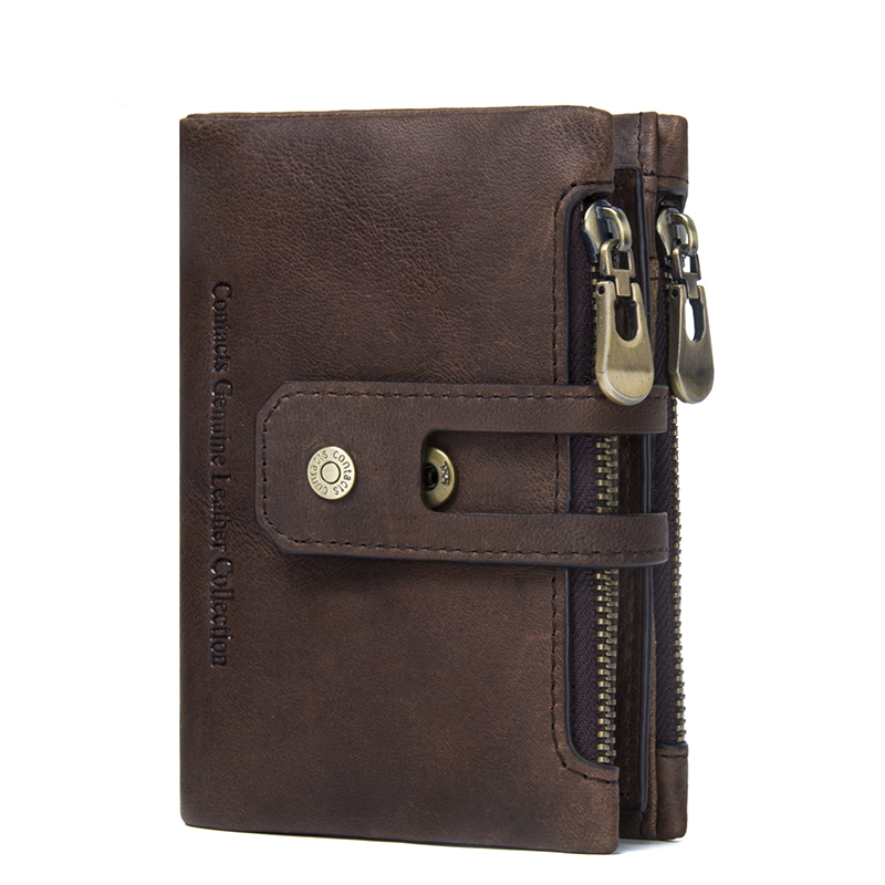 Neweekend Genuine Leather Men Wallet Small Men Walet Zipper&Hasp Male Portomonee Short Coin Purse Brand Perse Carteira For Rfid