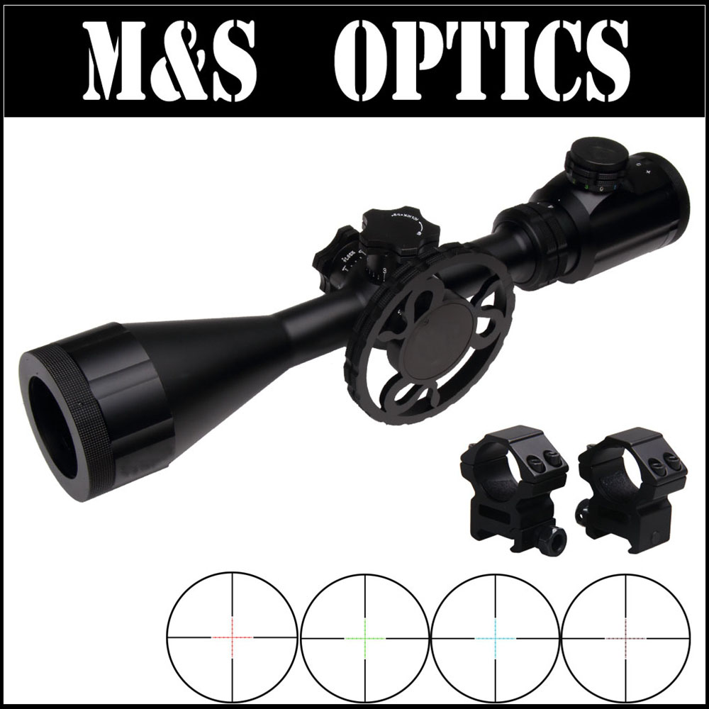 4-16X44 Side Focus IR Iluminated Rifle Scope Hunting Tactical Riflescopes Optics Sight For Hunter Outdoor Sport marcool 4 16x44 side focus front focal plane optical sights rifle scope hunting riflescopes for tactical gun scopes for adults