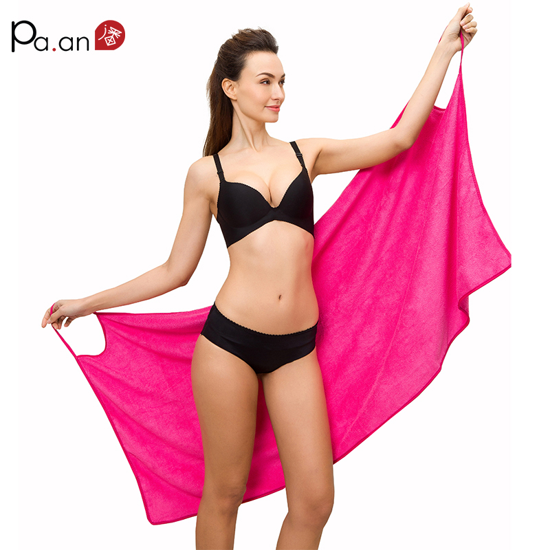 Hot Sexy Serviette De Bain Surclassement Taille Sangle Peignoir Wearable Serviettes De Plage Microfibre Tissu Super Doux Absorbant Multi Couleurs
