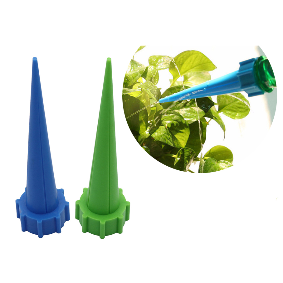 Indoor Automatic Watering Irrigation Tapered Flower Potted Plants Waterer Houseplant Spikes Saving Water 2 Pcs