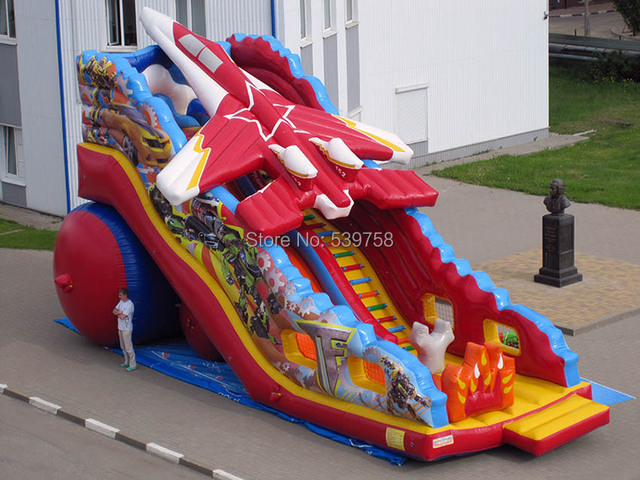 (China Guangzhou)  inflatable slides,Mushroom Castle slides  Aviation aircraft slides CHA-109