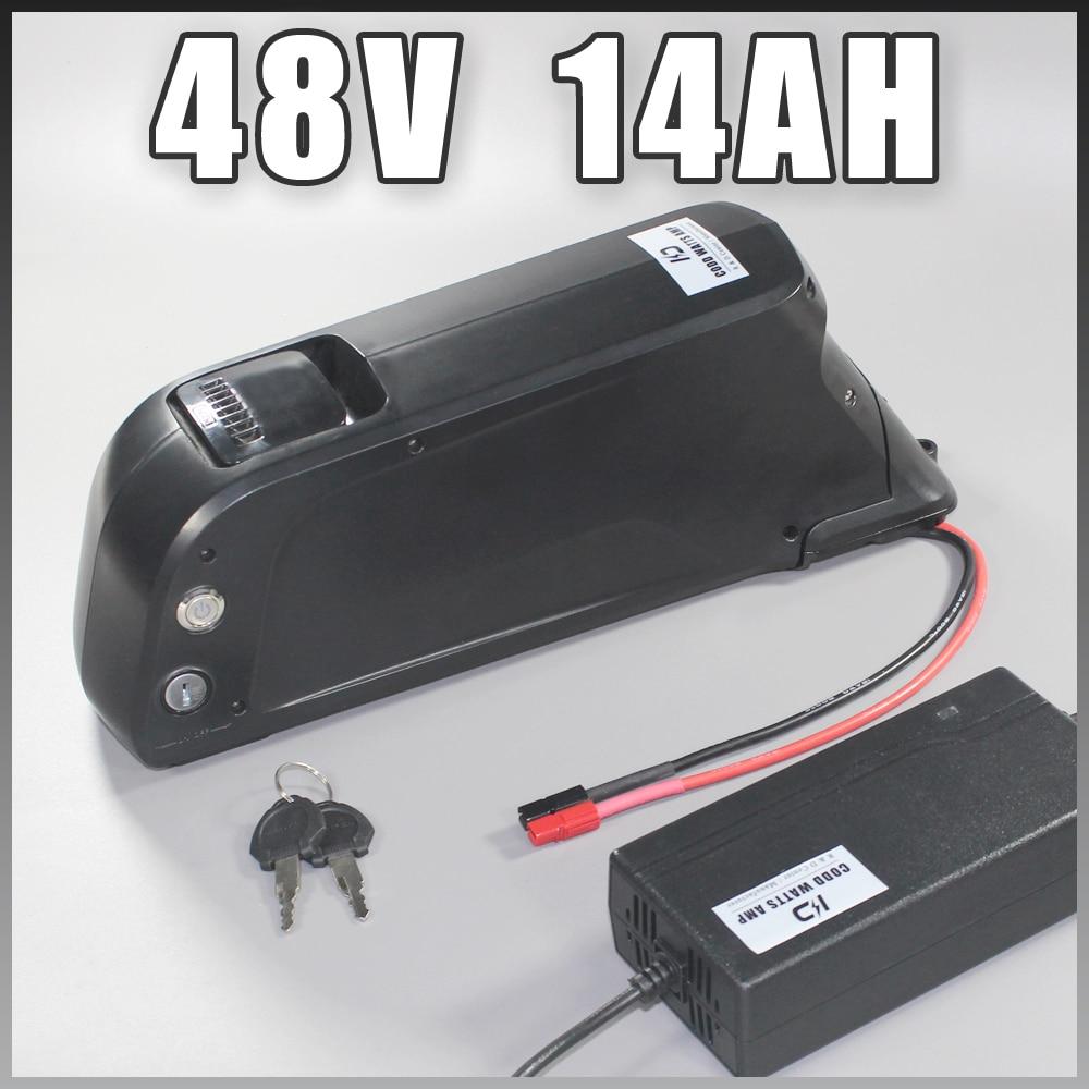 48 V 500 W 750 W 1 000 W Sanyo Ga 18650 Bike Bike 48v 14ah Dolphin Type 48v 8fun battery 48v ebike battery