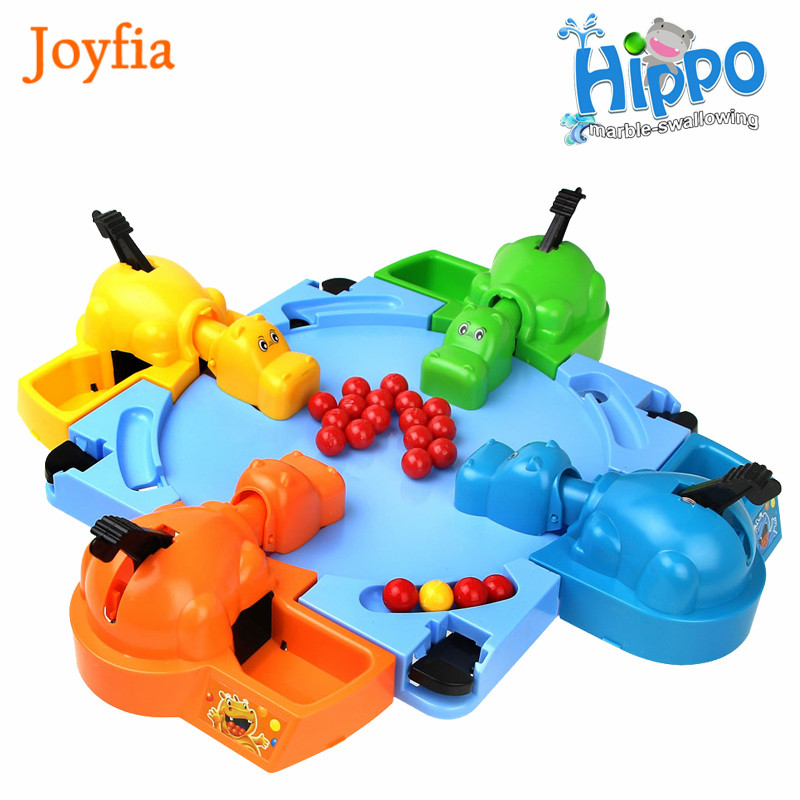 Joyfia Kids Feeding Hungry Hippo Marble Swallowing Ball Game Feeding Family Interactive Game Toy Educational Toys For Children >