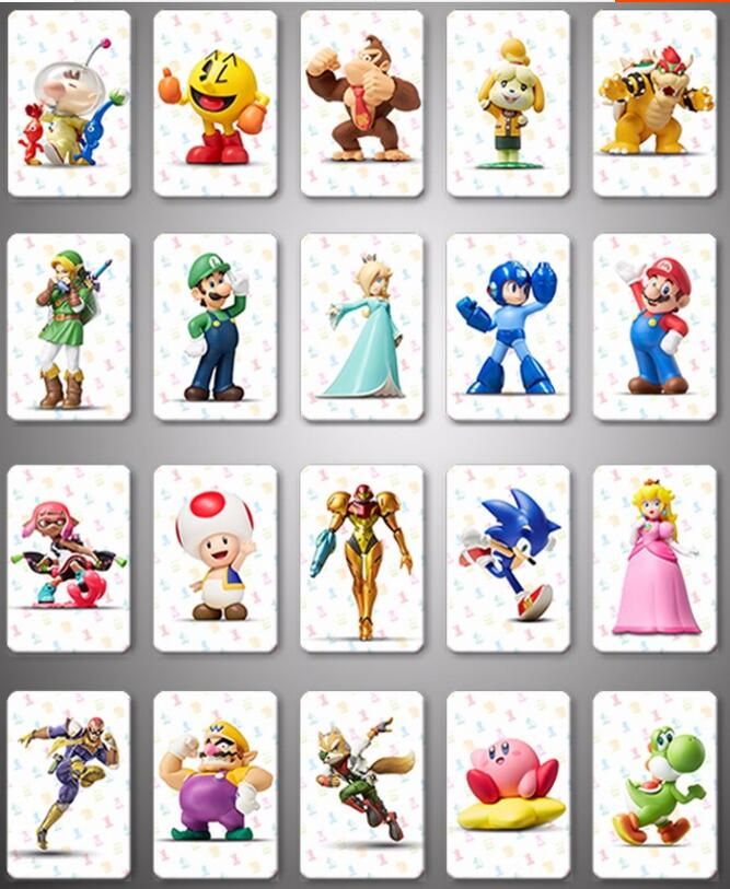 Mario Kart 8 Deluxe Full Set Amiibo NFC Printing Card Whole Set-20pcs/lot