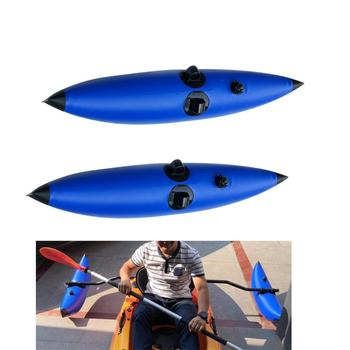Perfeclan Set 2pcs PVC Inflatable Kayak Canoe Fishing Standing Outrigger Stabilizer Water Sports Rowing Boats Accessories kayak canoe elastic bungee shock cord with hook lanyard fishing rod surfboard paddle safety leash ropes rowing boats accessories