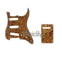 Musiclily 4Ply SSS ST Guitar Pickguard & Back Plate  For FenderStrat US/Mexico Standard Modern Style