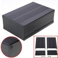 1 قطعة أسود الألومنيوم ضميمة حالة مشروع الإلكترونية لوحة الدوائر PCB أداة مربع Mayitr 150x105x55 ملليمتر-في موصلات من مصابيح وإضاءات على