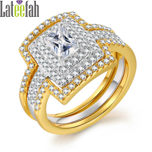 Aliexpresscom Buy Lateefah Vintage 3PCS Gold Color Wedding Rings