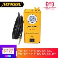 AUTOOL SDT202 автомобиля дым машины труба для Авто утечки локатор автомобильной диагностики смога анализатор утечки газа детектор обнаружить ин