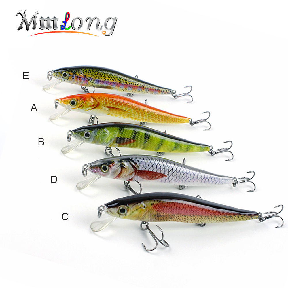 Mmlong 12cm Realistic Minnow Fishing Lure Popular Fishing Bait 14.6g Lifelike Crankbait Hard Fish Wobbler Tackle Pesca AH09C sealurer fishing lure minnow hard bait pesca floating wobbler 8cm 7 5g isca carp crankbait jerkbait 5colors 1pcs lot