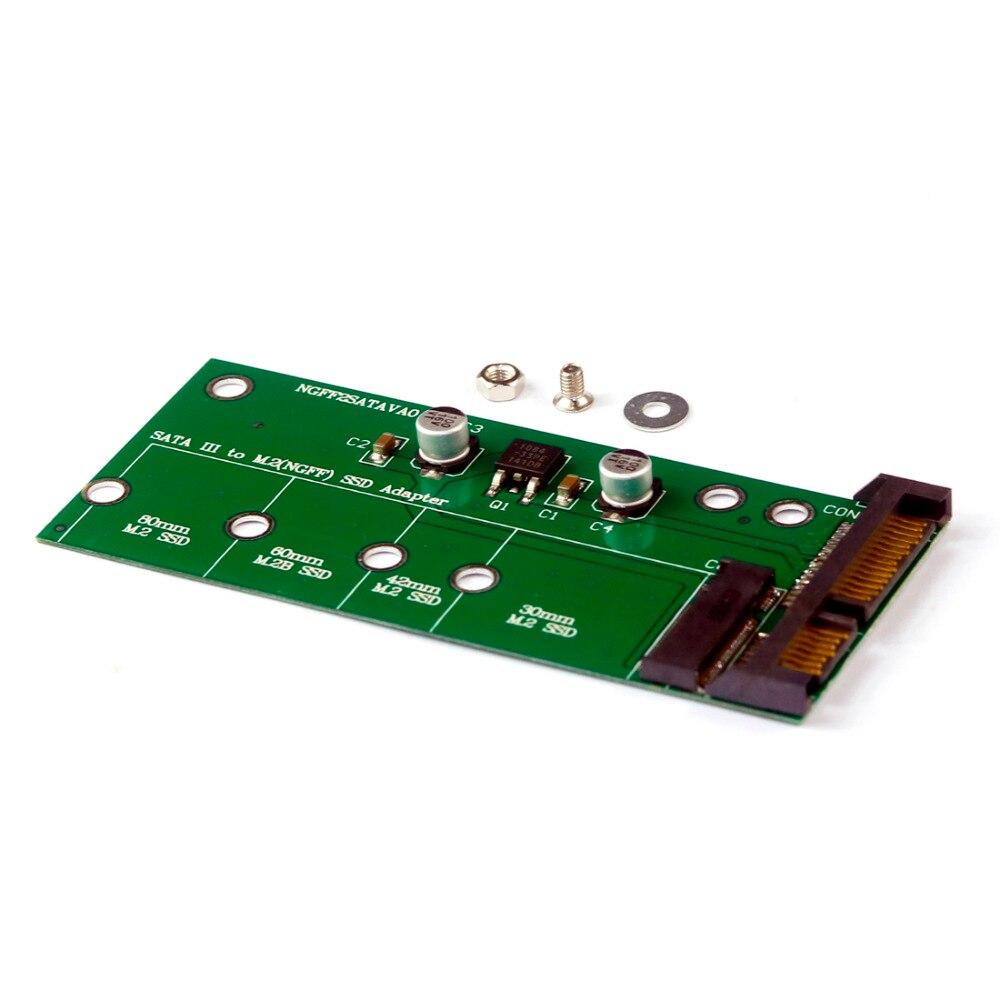 "NGFF ( M2 ) SSD To 2.5"" SATA Adapter M.2 NGFF SSD To SATA3"