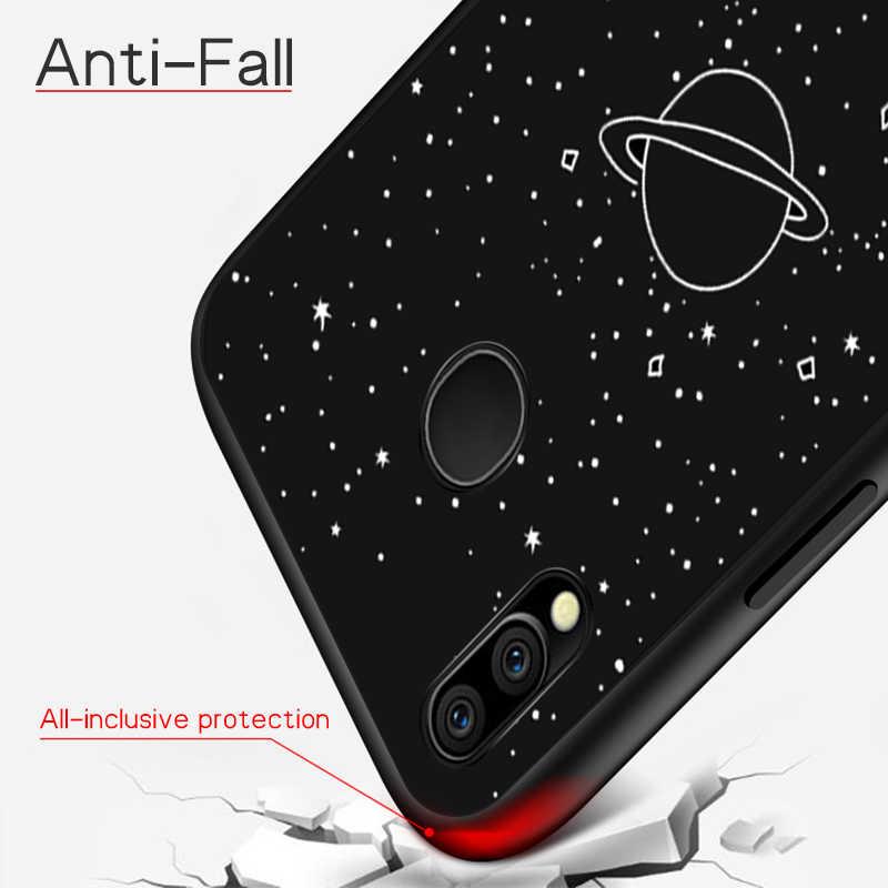 Pintado Matte em Tpu Para Samsung Galaxy A50 A30 A70 A40 A20 A10 M30 M20 M10 Cobertura Padrão de Estrela Espaço casos de Silicone Macio Capa