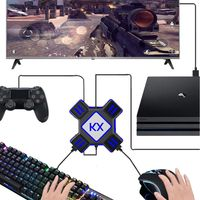 Black Game Controller Holder Trigger Gamepad Conversion Box For Switch Xbox PS4 PS3 Box Game Accessories
