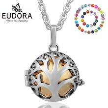 Family Love Tree Eudora Harmony Ball Pendant Jewelry Silver Plated Angel Caller with 20MM Chime Pregnant Baby Gift