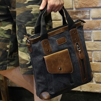 Men's bags Brand Vintage Men's Messenger Bags Canvas Shoulder Hand Bag Fashion Men Business Crossbody Bag Casual Travel Handbag