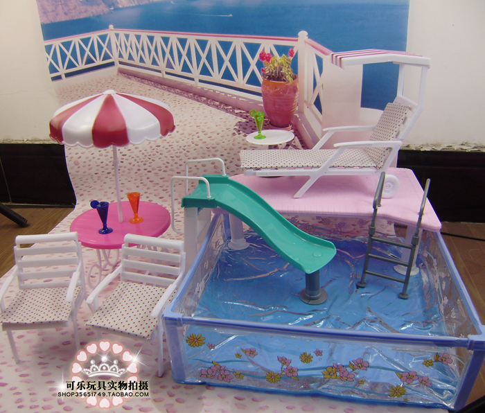 Free Shipping 1/6 doll accessories water fun summer resort Girl birthday gift Play Set toys doll Furniture for barbie dollFree Shipping 1/6 doll accessories water fun summer resort Girl birthday gift Play Set toys doll Furniture for barbie doll