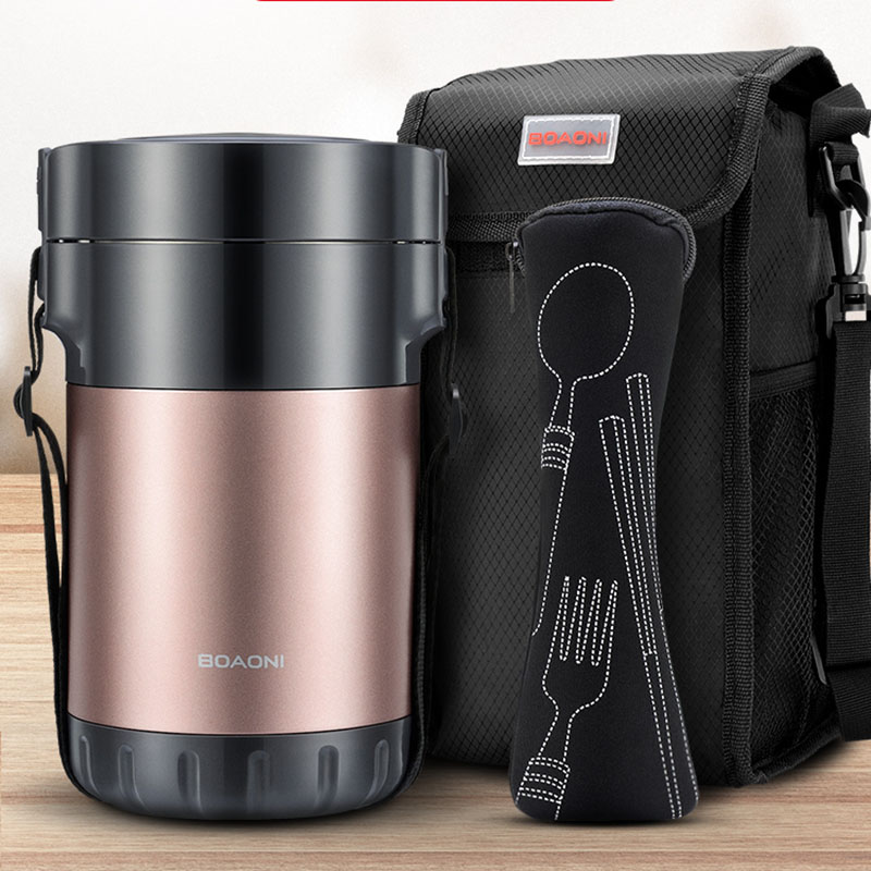 Leak Proof Vacuum Lunch Box Jar Food Container Hot Cold