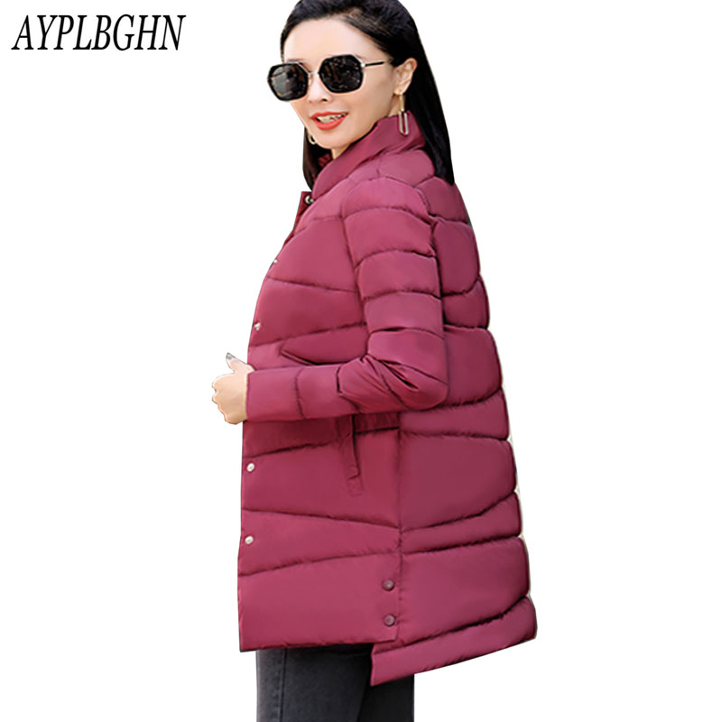 Women parkas 2017 New Fashion Female Winter Thick Warm Medium long Down Cotton Coat Long sleeve Slim Plus size Coat 7L96 2017 new winter jacket women long slim warm female fashion cotton coat outerwear thick warm winter parkas plus size l 3xl 4l60