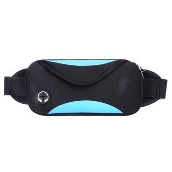цена на 20PCS / LOT Fashion Unisex Waist Pack Men Waterproof Fanny Pack Women Belt Waist Bag Male Phone Wallet Pouch Bag Patchwork Black