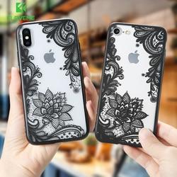FLOVEME цветочный чехол для телефона iPhone X XS Max XR X сексуальный кружевной девичий цветочный чехол для iPhone 7 6S 6 8 Plus 5S 5 SE чехол Fundas