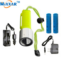 RUzk30 Underwater 60m Waterproof Handy led 2000LM Diving diver Portable Flashlight Torch Cree Q5 lantern Lamp by 18650 battery