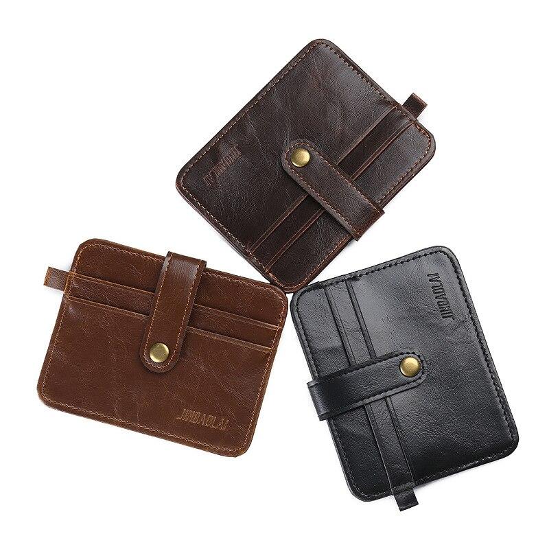 Купить с кэшбэком 2020 Hot Selling ! Quality Men PU Leather Bank Card Holder Student Money Bag Hasp Coin Pocket Portable Men Wallet Change Purse