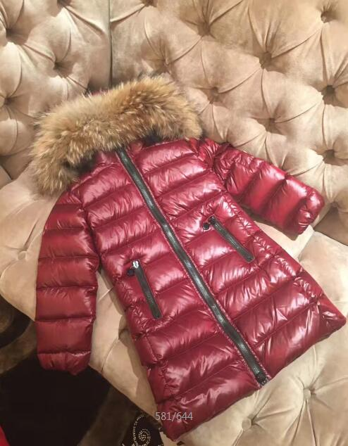 new children girls winter jacket CoatLong duck down thick faux fur hooded winter jacket for girls цены онлайн