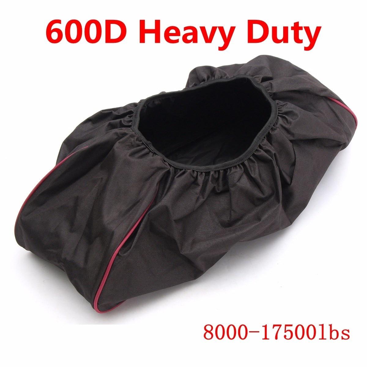 Schwarz Dicke Wasserdichte Weiche Winde Staub Winde Abdeckung 600D Fahrer Recovery 8000-17500 £ Anhänger SUVs 56*24*18 cm