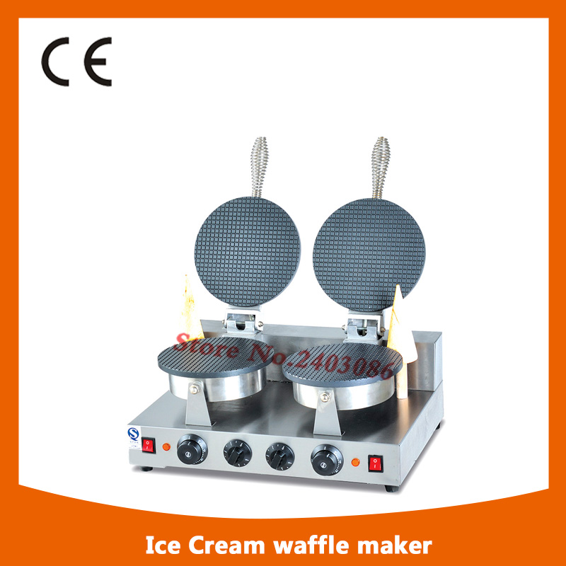 ice cream cone making machine, ice cream cone machine, ice cream waffle cone maker square pan rolled fried ice cream making machine snack machinery