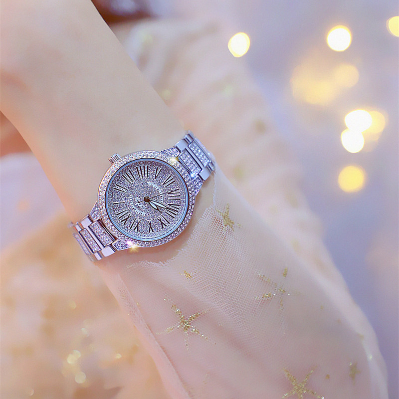 New Best Selling Bracelet Watch Roman Numerals Full Rhinestone Dial Silver Gold Female Watch Chronograph Fashion amp Casual in Women 39 s Watches from Watches