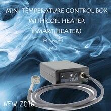 (ใหม่2016, W2,สีขาว)มินิกล่องควบคุมอุณหภูมิ,เล็บเครื่องทำขดลวด,ไทเทเนียมเล็บบุหรี่อิเล็กทรอนิกส์