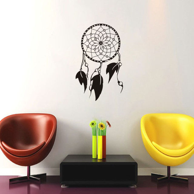 Indian Feathers Wall Decals Bedrooms Dream catcher Sign Amulet ...