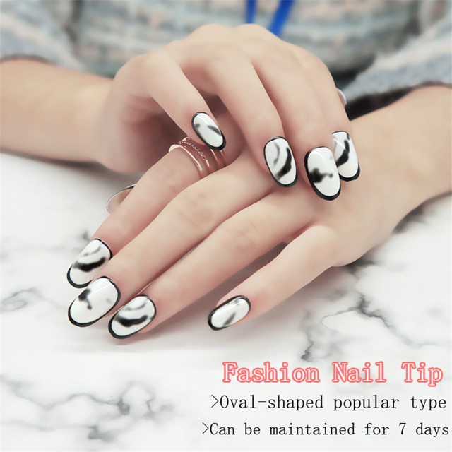 White black marble design false nail tips water transfer soft white black marble design false nail tips water transfer soft comfort full cover fake nails abs prinsesfo Gallery