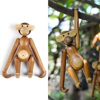 Innovative Monkey Animal Statues Decorations Funny Wooden Monkey European Fashion Home Kitchen Exquisite Art Decor Gifts