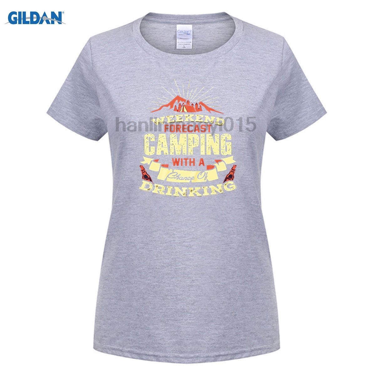 GILDAN printed T-shirt WHAT HAPPENS AROUND THE CAMPFIRE t-shirt for women ...