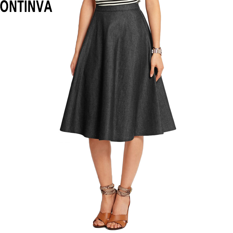 fashion denim skirt skirt european puff
