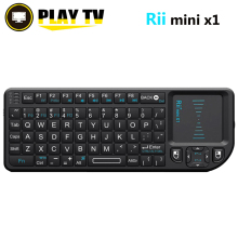 Original Rii Mini X1 Wireless Keyboard 2.4G Air Mouse Keyboards Handheld Touchpad gaming keyboard for phone smart tv box android