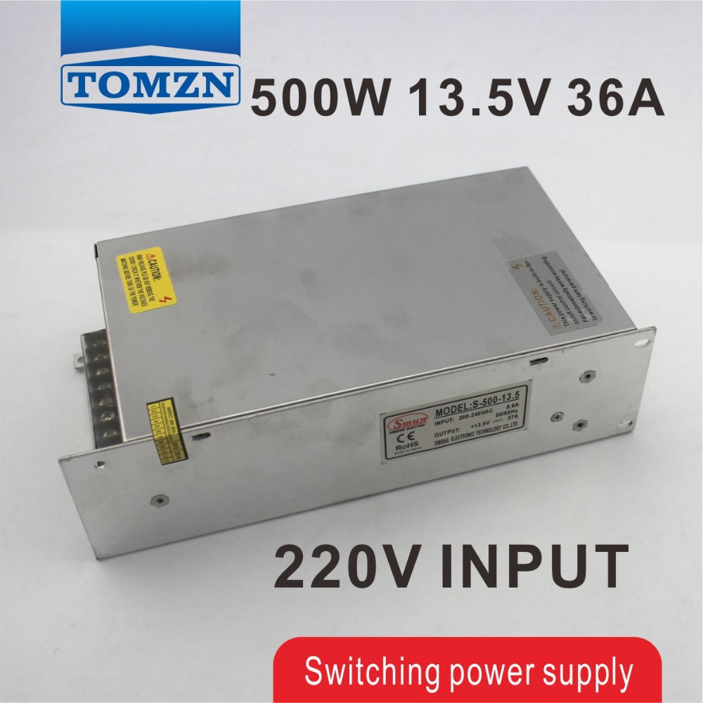 500W 13.5V 36A 220V INPUT Single Output Switching power supply for LED Strip light AC to DC best quality 12v 15a 180w switching power supply driver for led strip ac 100 240v input to dc 12v