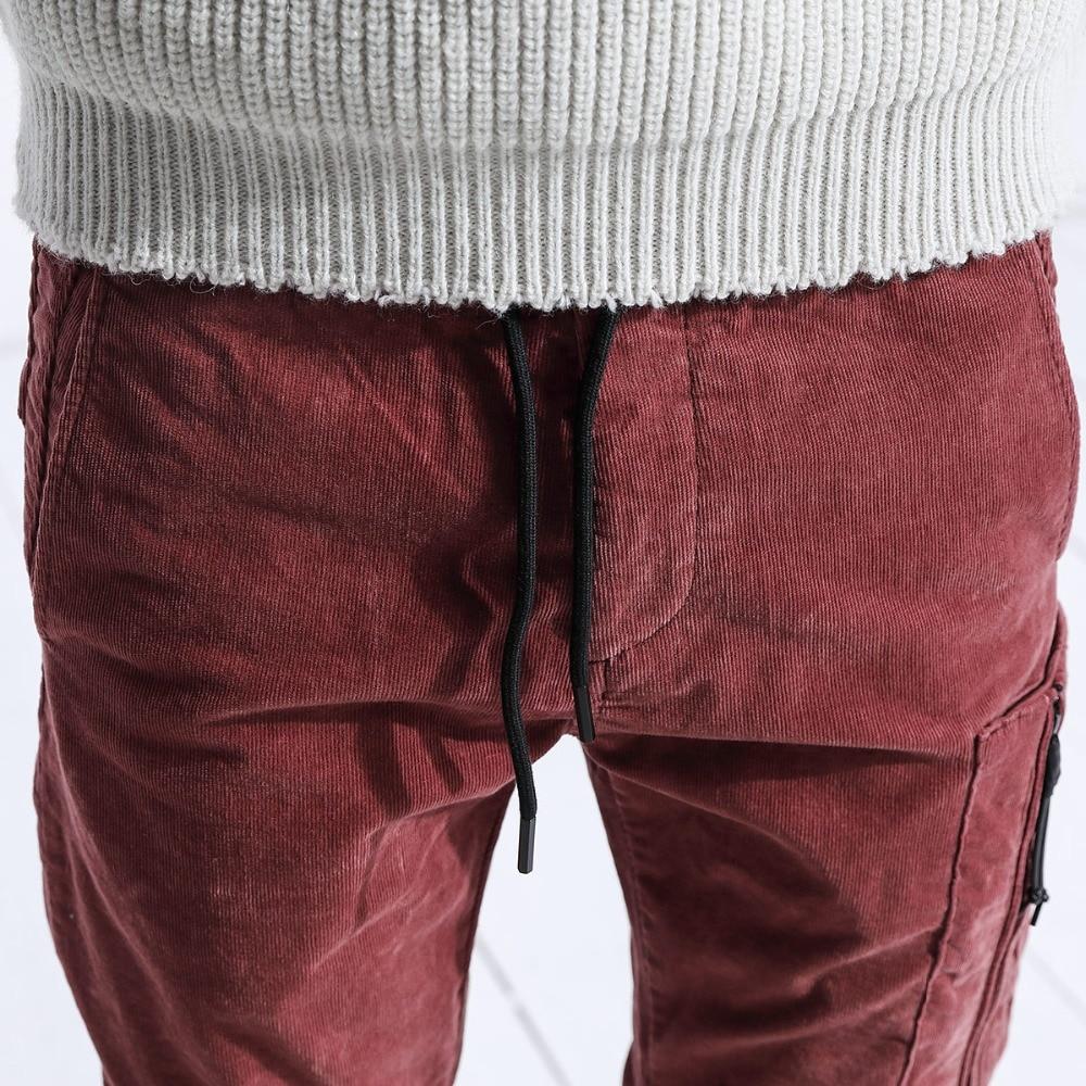 Image 2 - SIMWOOD Brand Casual Men Cargo Pants 2020 Winter Long Thick  Corduroy Pants Men Skinny Trouser Cotton Plus Size Sweatpants  180455Skinny Pants