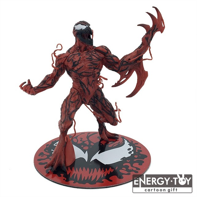"Anime 6 ""The Amazing Spider Man Venom Spiderman carnificina PVC action figure boneca de brinquedo modelo"