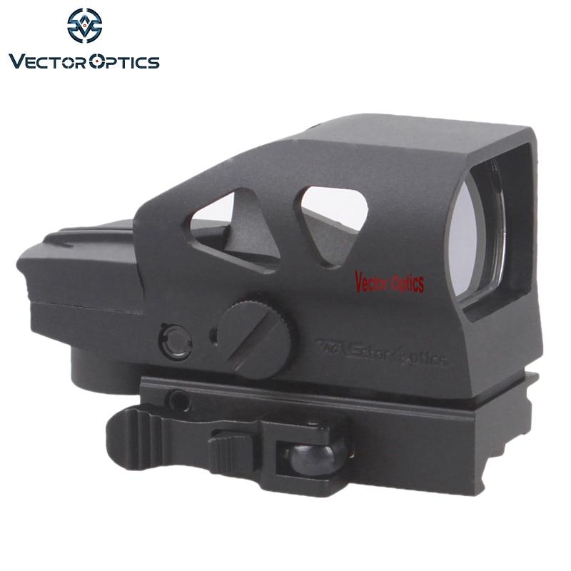 Vector Optics Ratchet 1x23x34 Red Green Dot Scope 4 Reticle Sight with QD Picatinny Mount for AK 5.56mm AR15 .223 12 GA 1 x 33mm red green light dot bird sight scope for dslr black 1 x cr2032