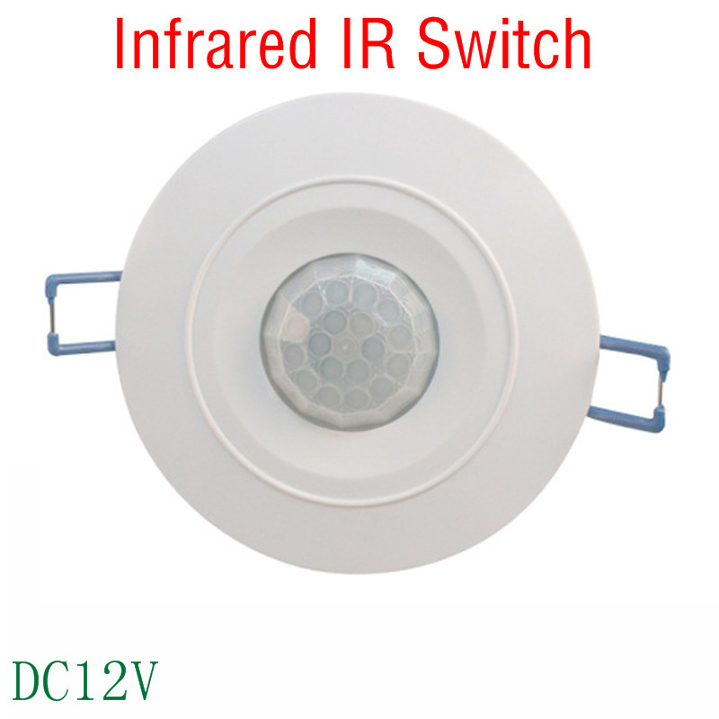 sensitivity and time delay adjustable DC12V Ceiling infrared human body sensor Detector switch Sensing distance 10M YY