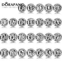 DORAPANG 100% 925 veintiséis letras del encanto cupieron la pulsera DIY brazalete para las mujeres fábrica de joyas al por mayor