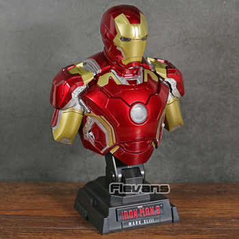Iron Man 3 MARK XLIII MK 43 1/4 Scale Bust with LED Light PVC Figure Collectible Model Toy