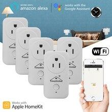 Alexa Tomada para Apple Homekit Wi-fi de Casa inteligente Google Siri Voz Controle Remoto Home Automation APP Temporizador Tomada EUA UE plugue