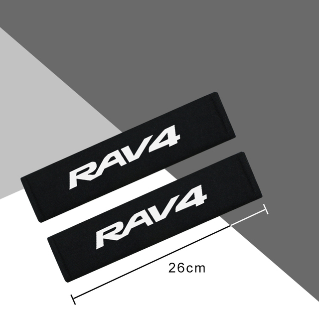 Car Styling Protect Shoulders Pads Case For Toyota RAV4 Auto Cover Stickers Accessories Car-Styling