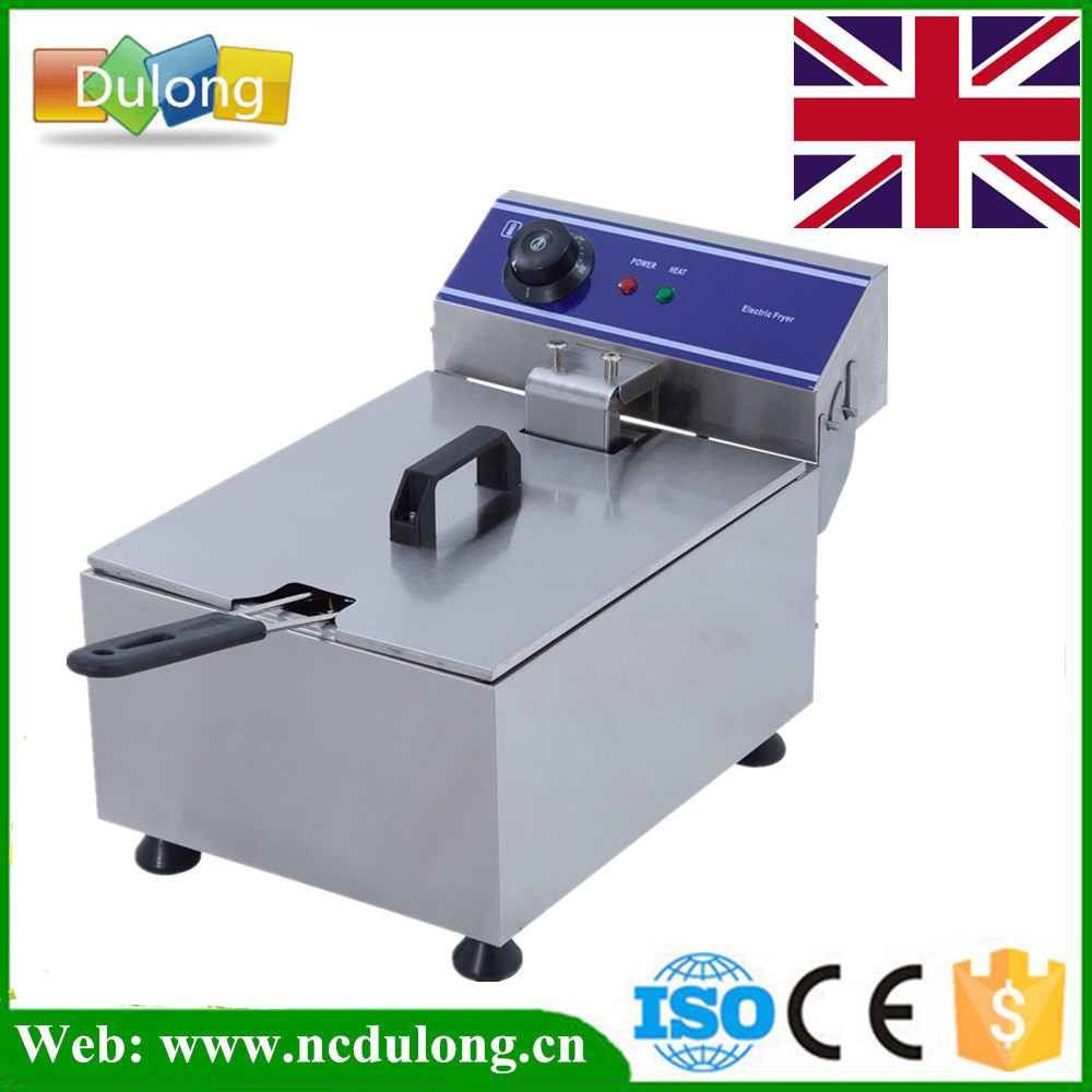 цена на Germany Stock Single Big Tank Electric Fryer Stainless Steel Deep Fryer 10L Frying Oven 220V
