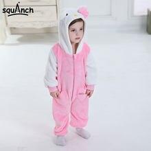 Infant Onesie Pink Kitty Cat Kigurumi Kid Animal Cosplay Costume Kawaii  Pajama Little Boy Girl Winter d7f8a1ab39926